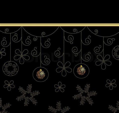 Ch Year Golden Black weihnachten schwarz und gold hintergrund mit kugeln und