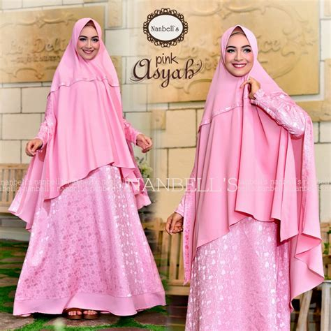 Terlaris Gamis Syari Nadira Tosca Baju Gamis asyah pink baju muslim gamis modern
