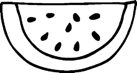 Free Coloring Pages Of Watermelon Slice Watermelon Coloring Page