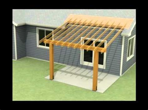 design of a roof addition an existing concrete patio