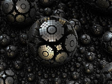 Kaos 3d Of Steel free illustration fractal sphere steel 3d free image