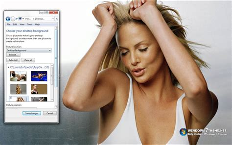 themes for windows 7 of actress charlize theron windows 7 theme download