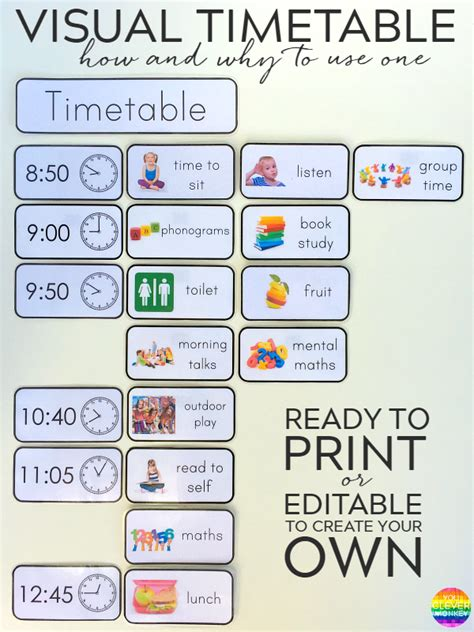 printable daily schedule for preschool classroom why and how to use visual timetable effectively visual