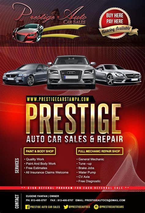 prestige auto sales body shops   nebraska ave