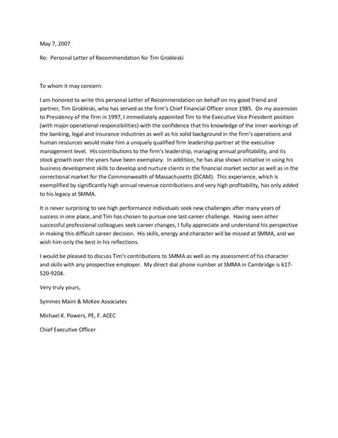 Letter Of Recommendation For Your recommendation letters