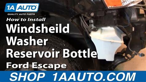 install replace windsheild washer reservoir bottle