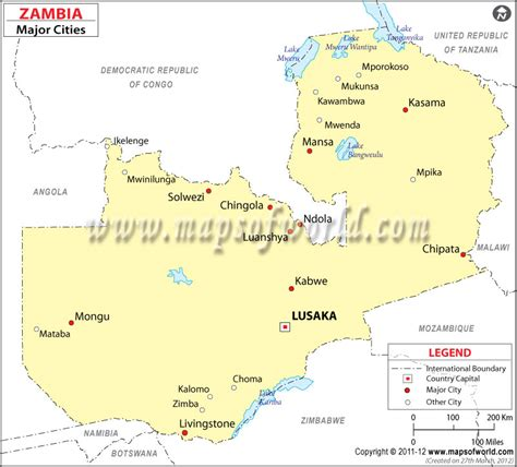 map of lusaka city zambia cities map major cities in zambia