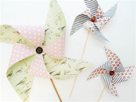 Handmade Pinwheels - stickytiger the summer decor series pretty pinwheels