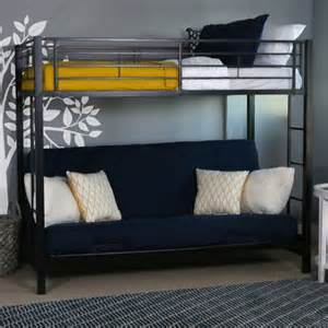 Bunk Bed With Futon Futon Bunk Beds For Adults With Metal Construction