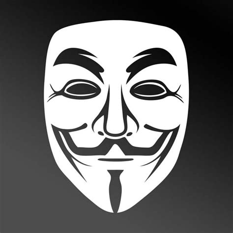 Wall Transfer Stickers white guy fawkes anonymous mask car window sticker
