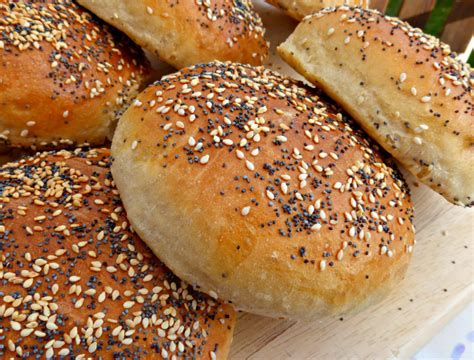 poppy seed buns soft brioche burger buns with sesame and poppy seeds