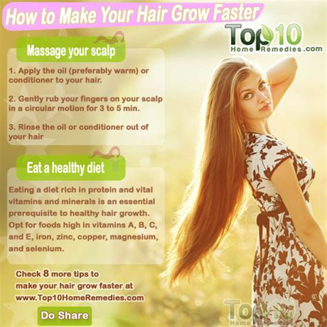 hair grow how to make your hair grow faster top 10 home remedies