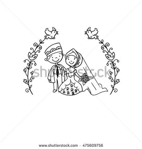 indian wedding doodle islamic wedding doodle illustration stock vektor