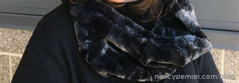 sewing with nancy infinity scarf how to sew faux fur scarves nancy zieman productions