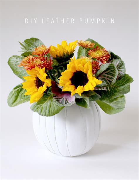 Flower Vase Pronunciation by Make A Leather Pumpkin Vase Awesome Centerpiece For