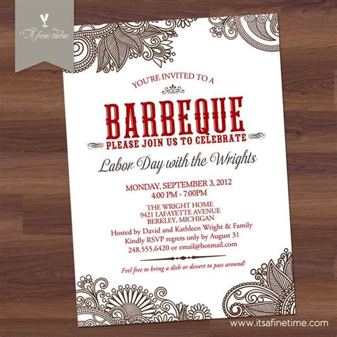 Backyard Bbq Wedding Invitation Wording Bbq Invitation Bridal Or Couples Shower