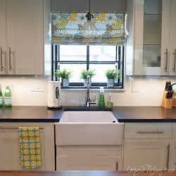 kitchen progress apron sink window and soapstone counters