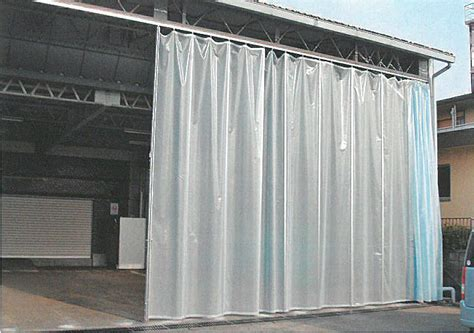garage partition curtain partition curtain with rail made in japan used for store