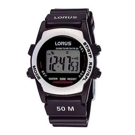 lorus s black multi digital h samuel