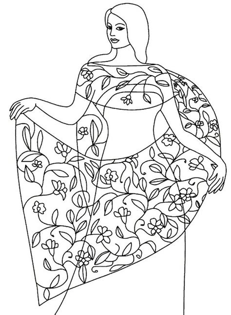 indian princess coloring pages n sari colouring pages