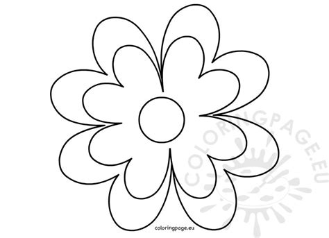 printable flower template crafts coloring page