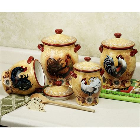 rooster kitchen canisters 625 best rooster kitchen decor images on pinterest