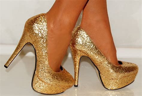 gold high heels all that s gold does glitter strutting in style nancy