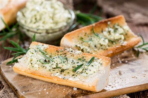 Garlic Butter Bread Spread Healthy garlic bread with herb butter recipe by archana s kitchen simple recipes cooking ideas