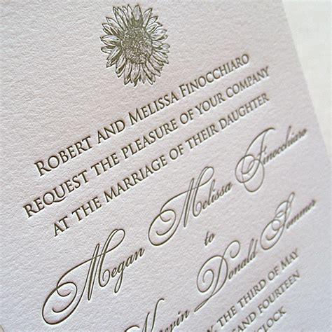 Letterpress Wedding Invitations by Original Letterpress Wedding Invitations Stationery