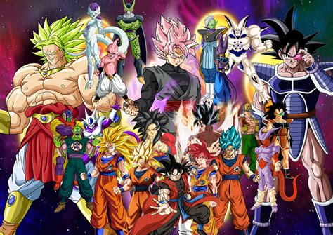 dragon ball z villains wallpaper goku vs his main villains by supersaiyancrash on deviantart