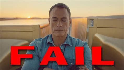 epic split fail feat van damme volvo truck split commercial youtube