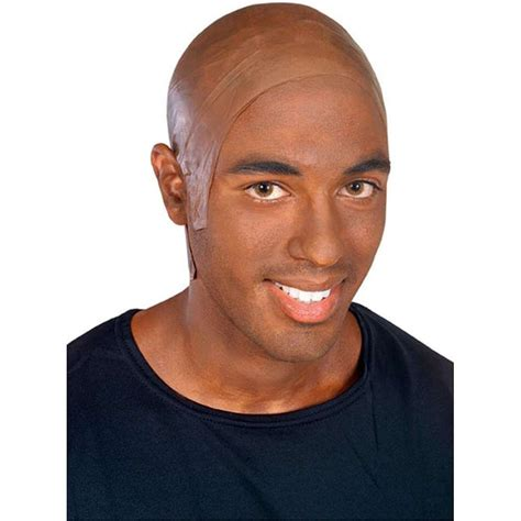 bald head bald head cap dark latex flesh skin african american mens