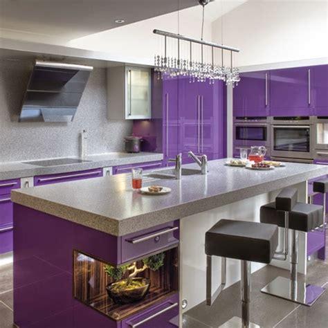 desain dapur kecil warna ungu desain dapur mewah modern dengan warna ungu