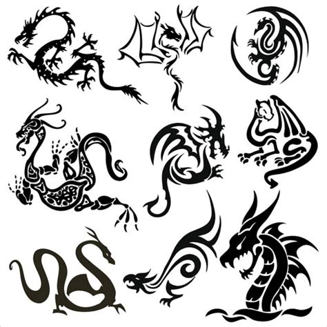 dragon tattoo vector free dragon tattoos vector vector graphics blog