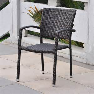 Wicker Patio Dining Chairs Shop International Caravan Barcelona Chocolate Wicker Stackable Patio Dining Chair At Lowes