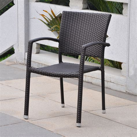 Stackable Patio Chair Shop International Caravan Barcelona Chocolate Wicker Stackable Patio Dining Chair At Lowes