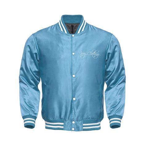 Jacket Light Blue light blue varsity jacket shop keez clothing