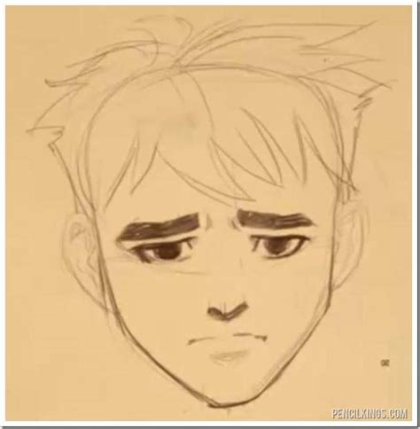 adding expression how to draw eyebrows step by step drawing a worried face without frowning