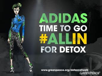 Detox Catwalk Adidas by Nike And Li Ning Labelled Greenwashers In Greenpeace East
