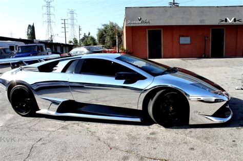 chrome wrapped cars chrome car wrap supercars gym