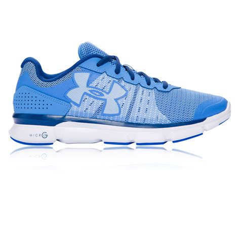 womens cushioned running shoes armour micro g speed womens blue cushioned