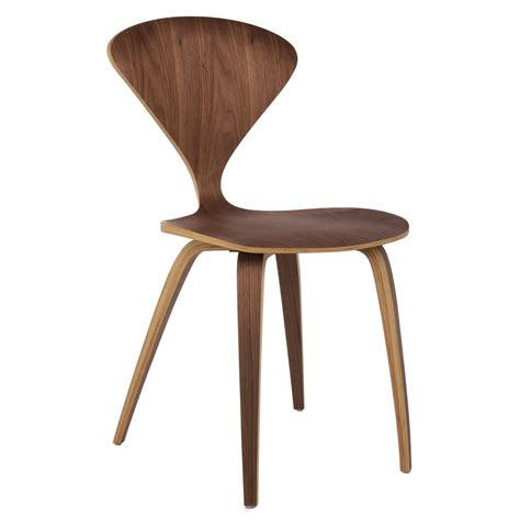 Dining Side Chair Cherner Style Plywood Walnut Wooden Dining Side Chair