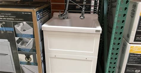 Ove Utility Sink Cabinet by Costco Weekender Ove Utility Sink With Faucet