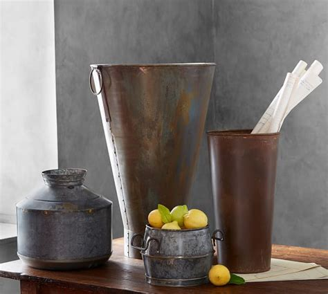 Galvanized Vase by Galvanized Vase Pottery Barn