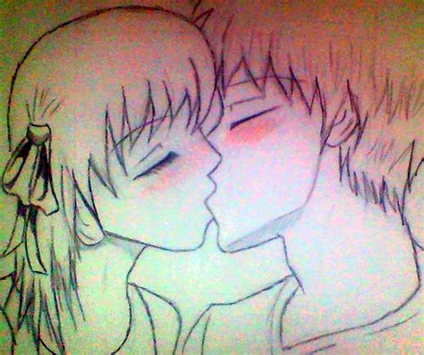 anime couples kissing sketches kissing anime couple by lilxcherrypop on deviantart