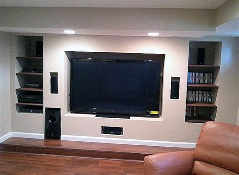 from the basement tv interior remodel entertainment room in basement