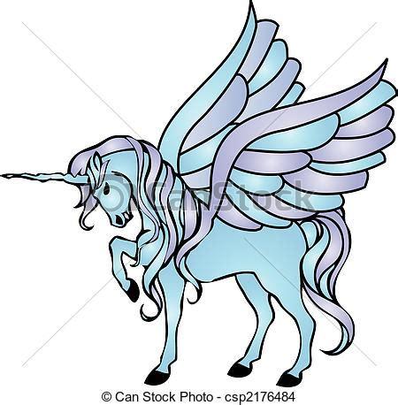 unicornios imagenes alas dibujos de azul alas unicornio ilustraci 243 n de un