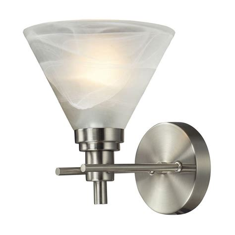 brushed nickel bathroom light bar titan lighting pemberton 1 light brushed nickel wall mount