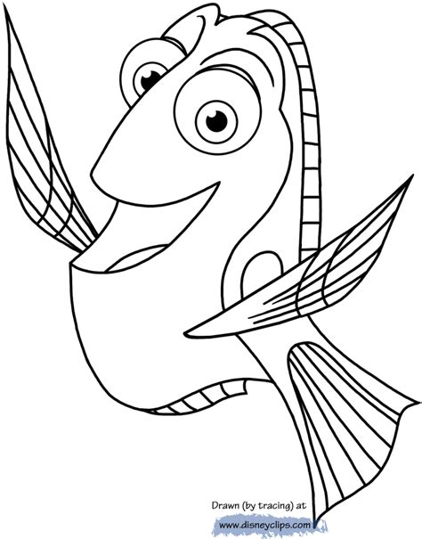 Coloring Pages Nemo And Dory | finding dory coloring pages disney coloring book