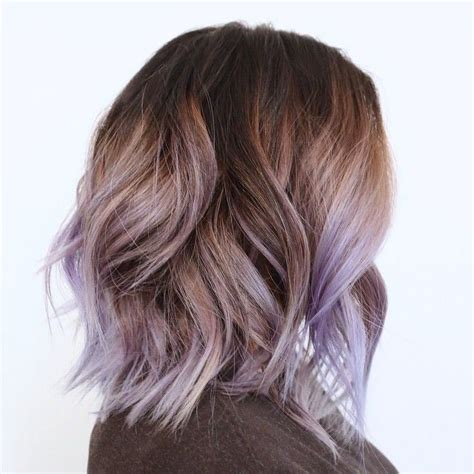 subtle colors brown to lilac ombre hair www pixshark com images